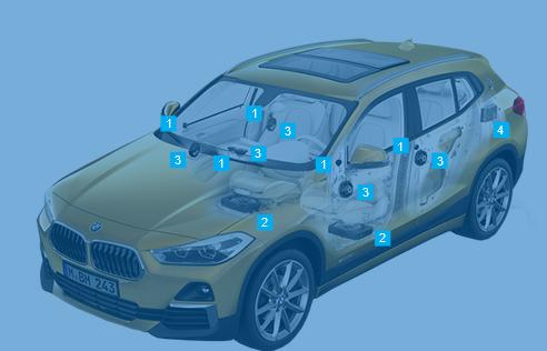 BMW X2 Sport sound system