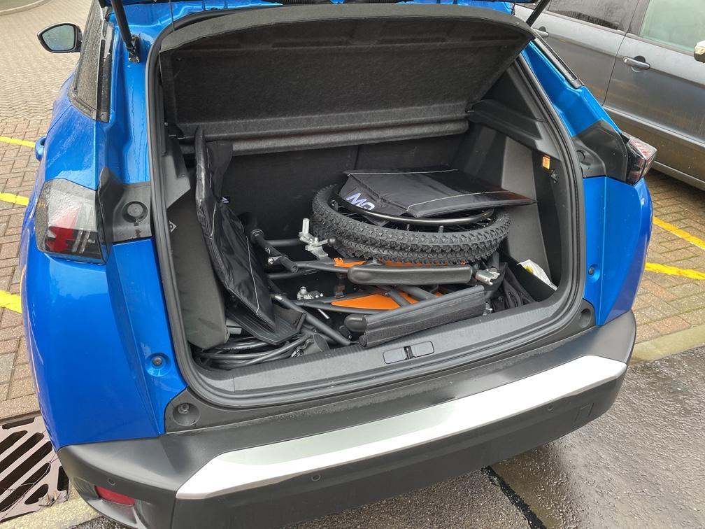 G-Explorer All Terrain manual wheelchair in e-2008 boot