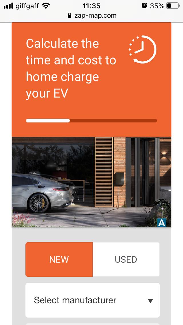 EV Home Charging Calculator
