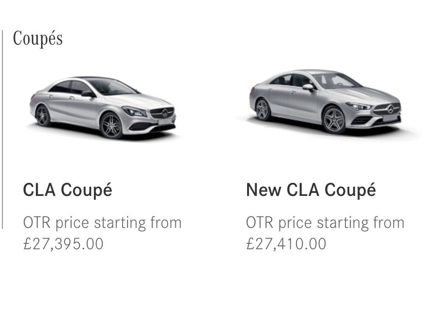New CLA price