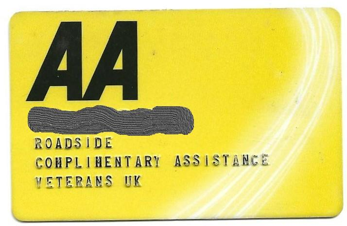 Veterans Complimentary Disabled Drivers Assistance Card